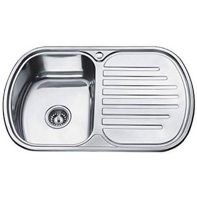 Мойка кухонная Ledeme 7749L врезная нержавеющая сталь хром