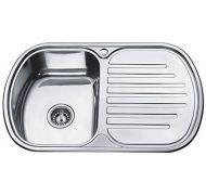 Мойка кухонная Ledeme 7749 врезная нержавеющая сталь хром