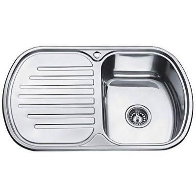 Мойка кухонная MELANA 7749 врезная нержавеющая сталь хром