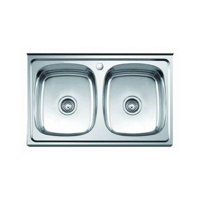 Мойка кухонная Sinklight 8060-2 накладная нержавеющая сталь стальной