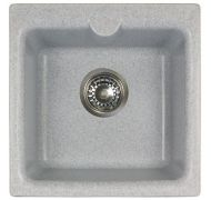 Мойка кухонная Granicom Novell Ирбис врезная мрамор серый