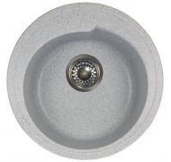 Мойка кухонная Granicom Novell Капри врезная мрамор серый