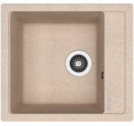 Мойка кухонная Florentina ЛИПСИ 460 врезная искусственный гранит песочный