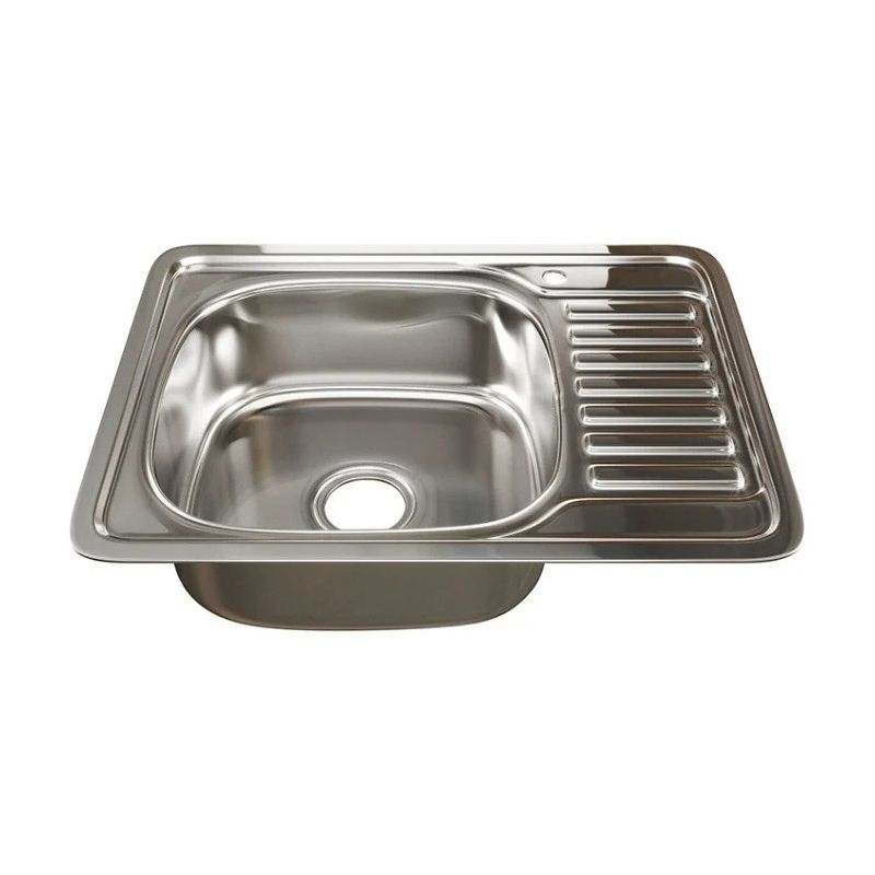 Мойка кухонная Mixline 533709 врезная нержавеющая сталь хром