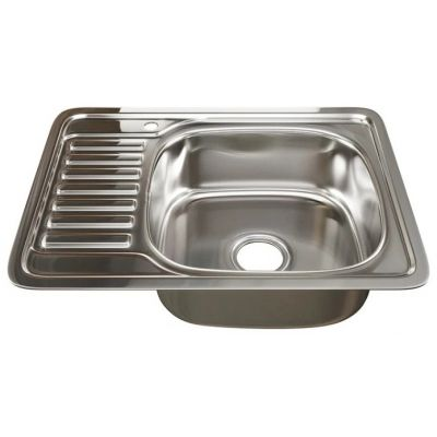 Мойка кухонная Mixline 5077 врезная нержавеющая сталь хром