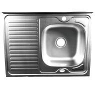 Мойка кухонная Mixline 8060 накладная нержавеющая сталь хром