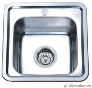 Мойка кухонная Sinklight 3838 0.6 врезная нержавеющая сталь хром